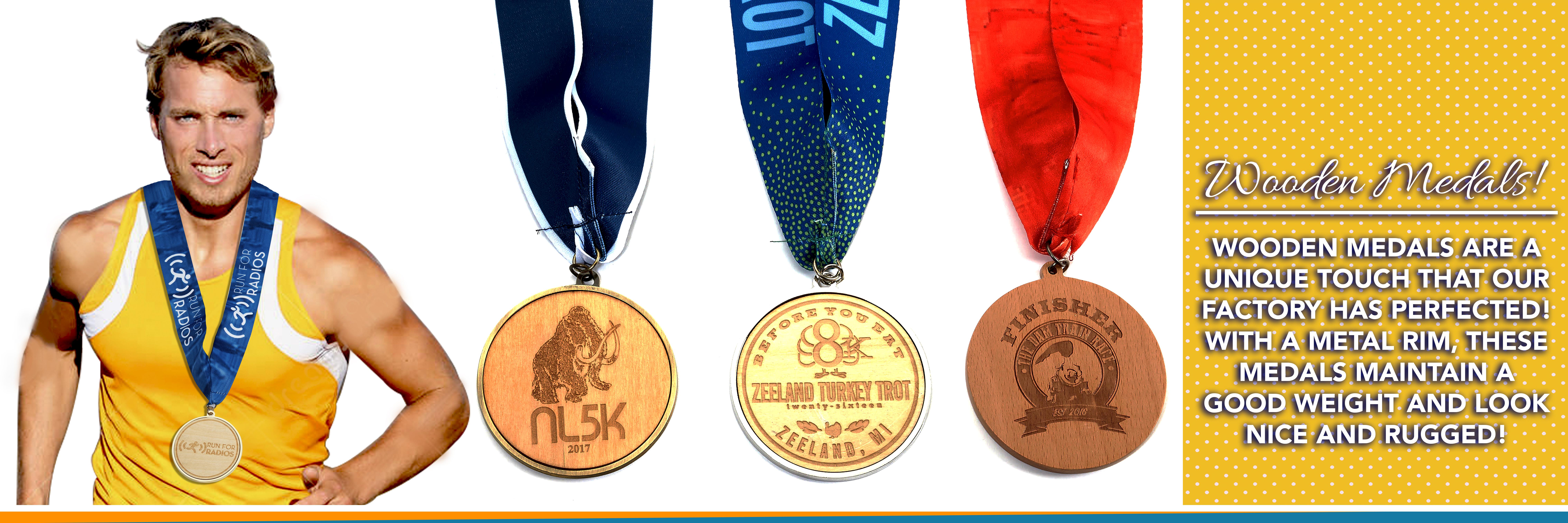 Wood Race Medals - Custom Finisher Medals For Marathon